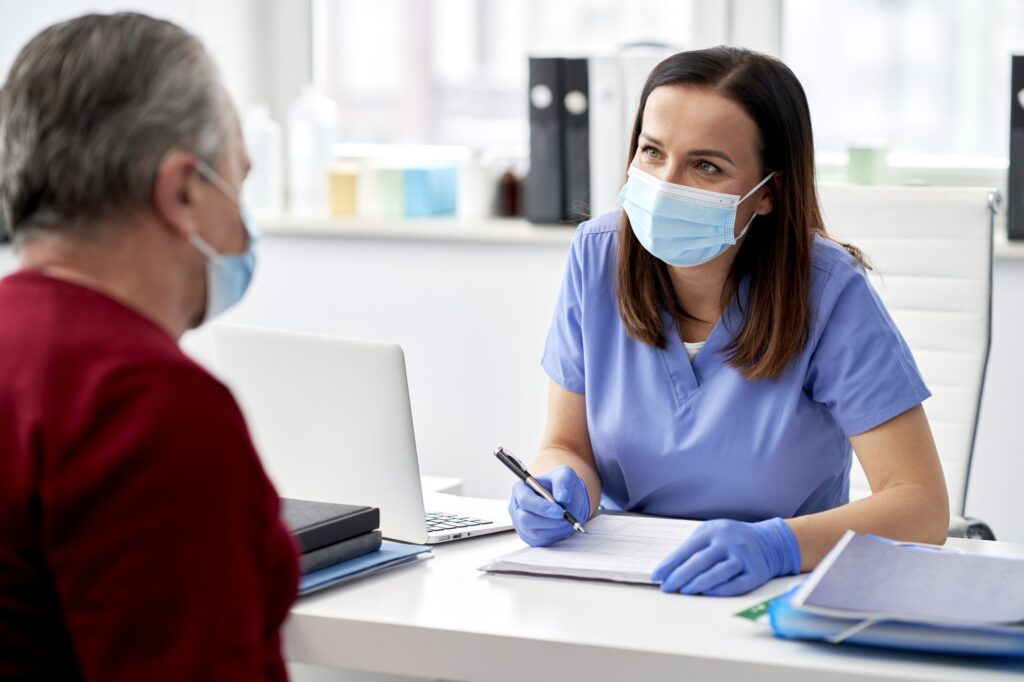 Visiting a doctor during a pandemic